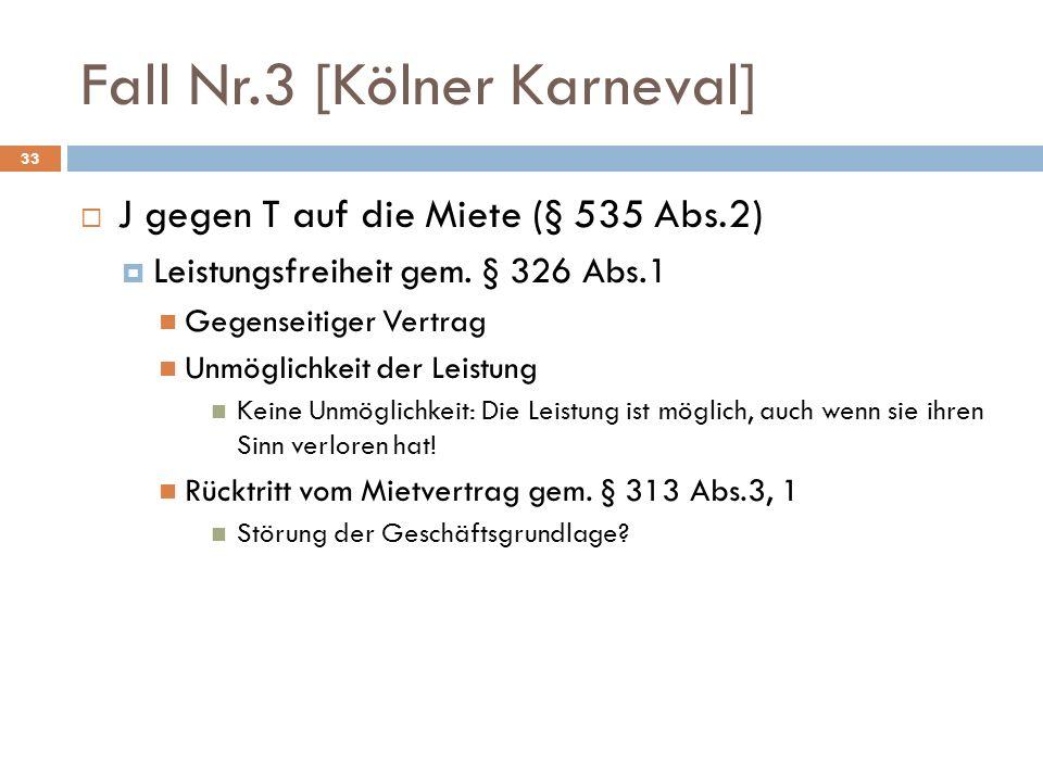 Fall Nr.3 [Kölner Karneval]